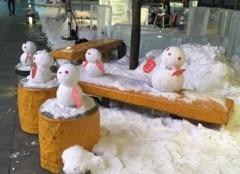 雪だるまin旭川1